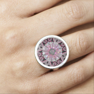 Pink Daisy Geometric Sparkle Design