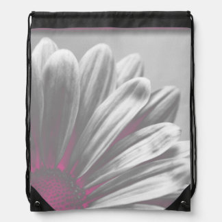 Pink Daisy Highlights Drawstring Backpack