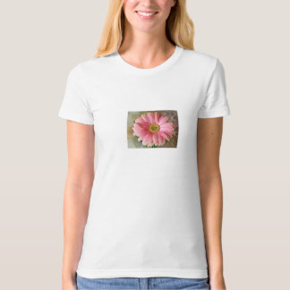 Pink Daisy Ladies Organic T-Shirt (Fitted) Natural