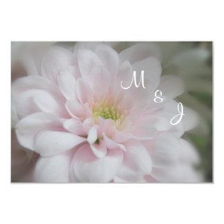 Pink Daisy Mum Wedding Response RSVP Card