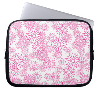 Pink Daisy Pattern Laptop Computer Sleeves