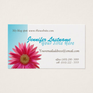 Pink Daisy Personal Business Card