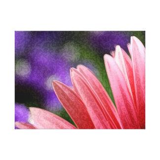 Pink Daisy Print on Canvas Canvas Print