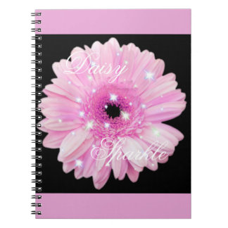 Pink Daisy Sparkle Notebook