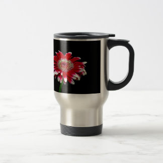 pink daisy travel mug