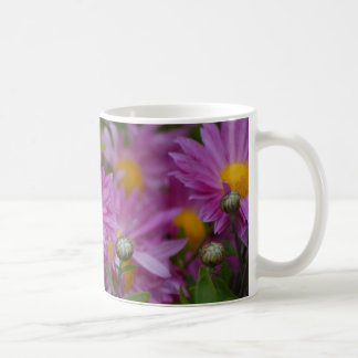 Pink Daisys Basic White Mug