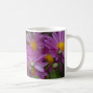Pink Daisys Classic White Coffee Mug