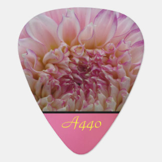 Pink Dalia Flower A440 Guitar Pick