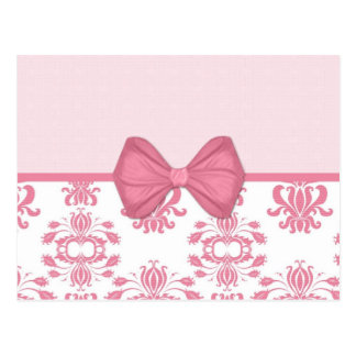 Pink Damask (17) Postcard