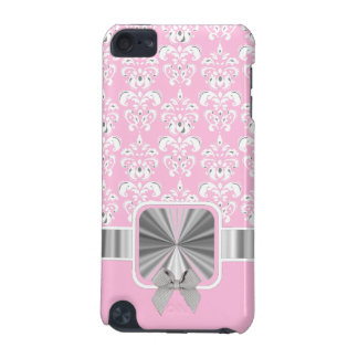Pink damask and bow iPod touch (5th generation) case