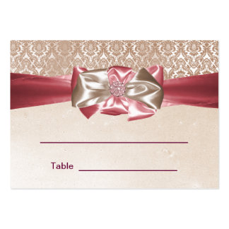 Pink Damask Bat Mitzvah Reception Table Cards Pack Of Chubby Business Cards