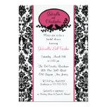 Pink Damask Bridal Shower Invitation