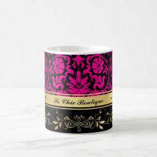 Pink Damask Coffee Mug