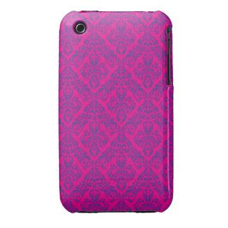 Pink Damask Design Blackberry Curve case