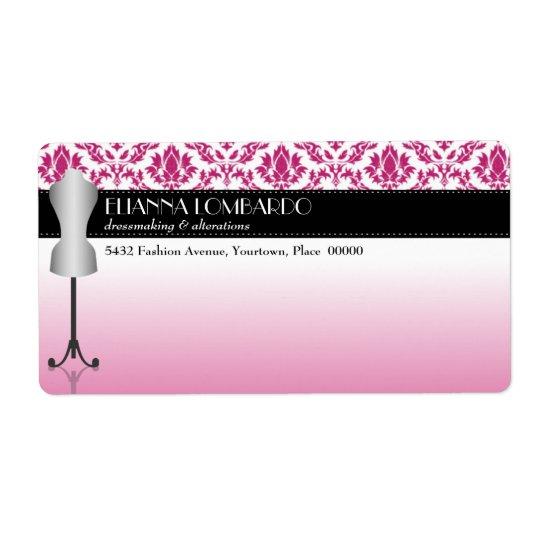 Pink Damask Fashion Dress Form