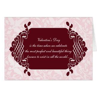 Pink Damask Funny Anti-Valentine's Card