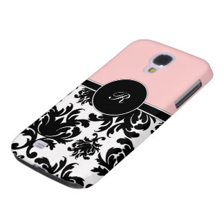 Pink Damask Galaxy S4 Case