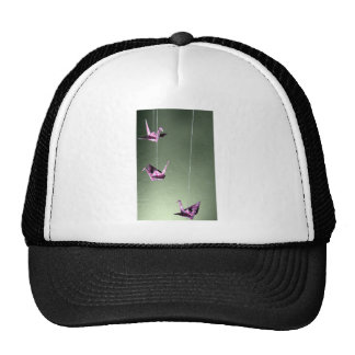 Pink Damask Origami Spiral Mobile Mesh Hat