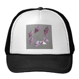 Pink Damask Origami Spiral Mobile Trucker Hat