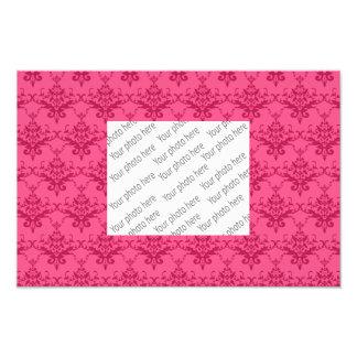 Pink damask pattern art photo
