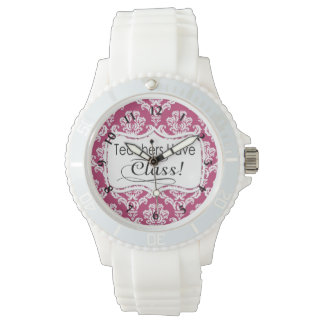 Pink Damask, Teachers Have Class Watch