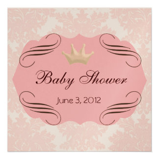 Pink Damask with Pink Darling Frames Invite