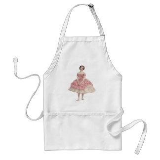 pink dancer standard apron