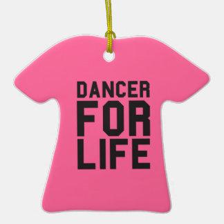 Pink Dancer for Life Ceramic T-Shirt Decoration