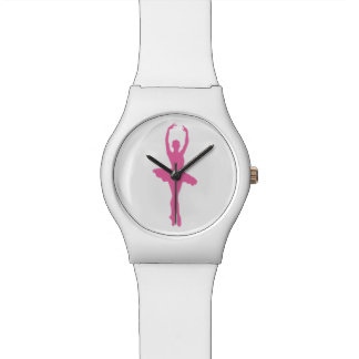 Pink Dancing Ballerina Watch
