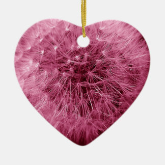 Pink Dandelion Christmas Ornament