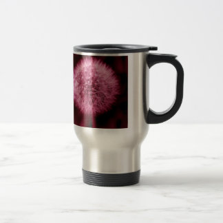 Pink Dandelion Travel Mug