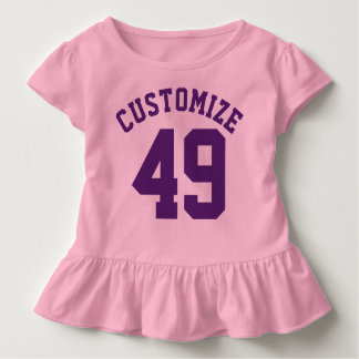 Pink & Dark Purple Toddler | Sports Jersey Design Toddler T-Shirt