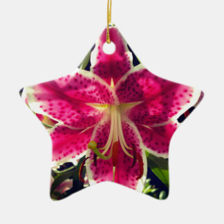 Pink Day Lily Christmas Ornament
