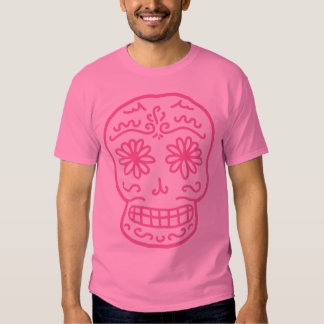 Pink Day of the Dead Skull Shirts