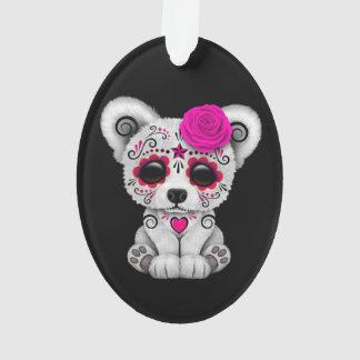 Pink Day of the Dead Sugar Skull Bear Black
