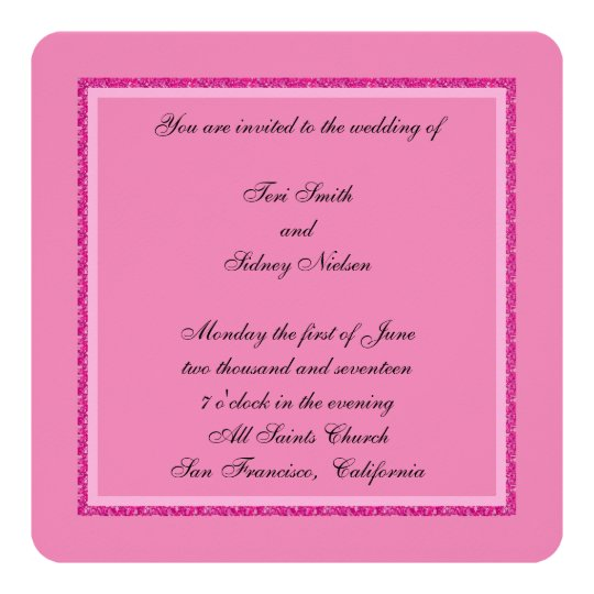Pink Dazzle Wedding Card