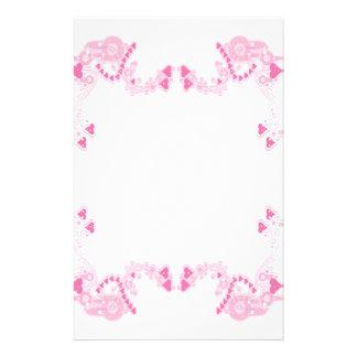 Pink Deco Hearts Stationary Stationery