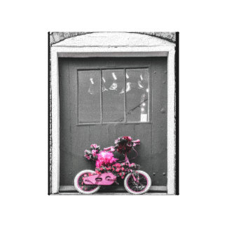 Pink Decorated Kid's Bike Canvas Print