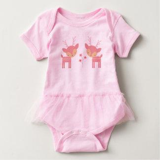 Pink Deer Baby Bodysuit