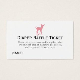 Pink Deer Diaper Raffle Ticket Girls Baby Shower