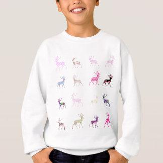 Pink Deer Pattern Sweatshirt