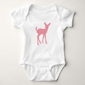 Pink Deer Vest Baby Bodysuit