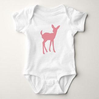 Pink Deer Woodland Princess Baby Bodysuit