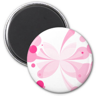 Pink Delight Butterfly Abstract Magnet