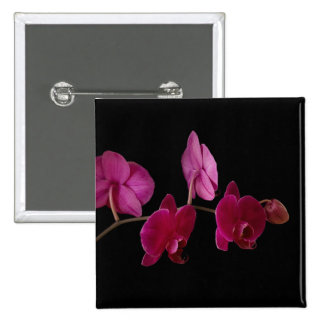 Pink Dendrobium Orchid - Customized Flowers 15 Cm Square Badge