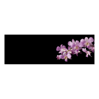 Pink Dendrobium Orchid Flower on Black - Orchids Pack Of Skinny Business Cards