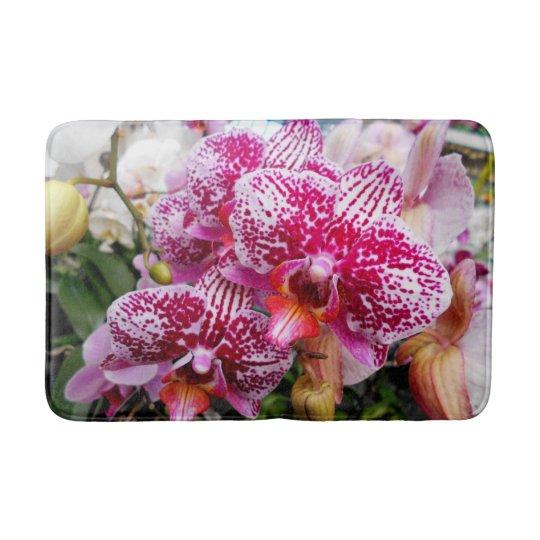 Pink Dendrobium Orchids Bath Mats