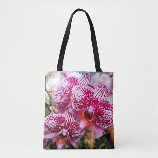 Pink Dendrobium Orchids Tote Bag