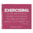 Pink Denim Fitness Quote for Exercise Motivation Poster