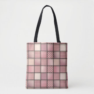 Pink Denim Tote Bag